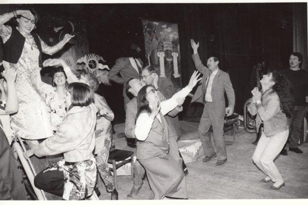 """Pirmojo festivalio """"Kvartetas"""" atidarymo momentas. 1993 m."""