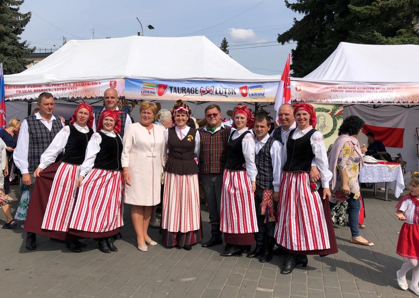 2019-09-07-Tauragės delegacija – Lutsko 934-ųjų miesto įkūrimo metinių šventėje