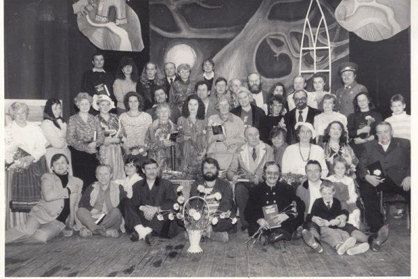 Tauragės liaudies teatro 30-metis. Dar visa kūrybinis teatro trejetas – Genovaitė, Antanas ir Edmundas – kartu.