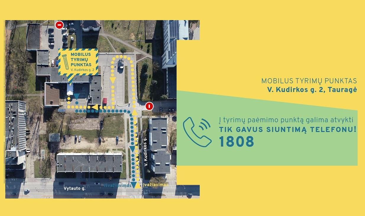 2020-03-25 Tauragėje veikia mobilus tyrimų punktas