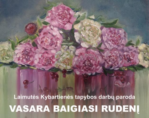 2020-10-12 Tauragės kultūros rūmuose eksponuojama Laimutės Kybartienės darbų paroda