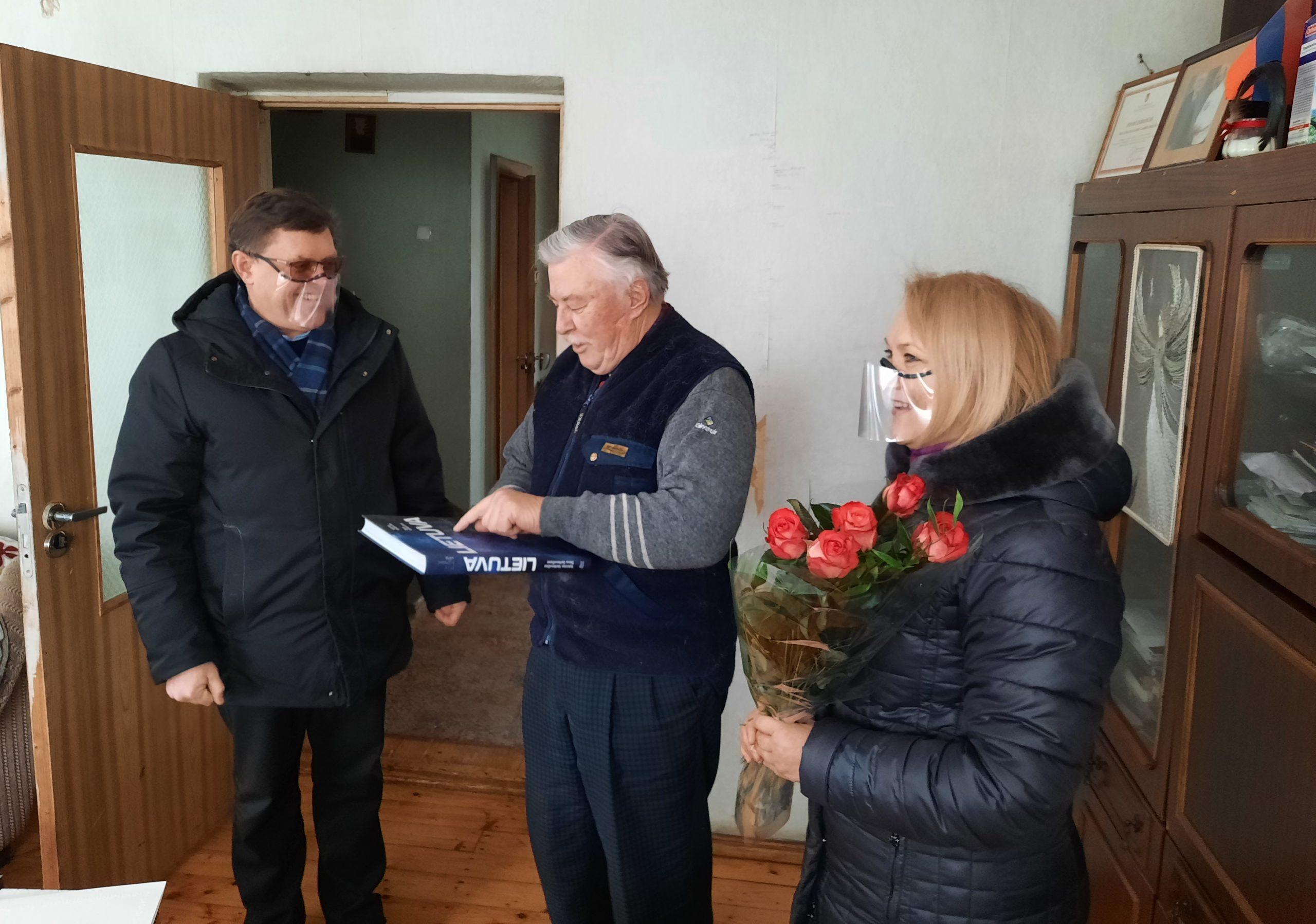 2021-02-14 Tauragės garbės piliečiui Jonui Liorančui –80 metų